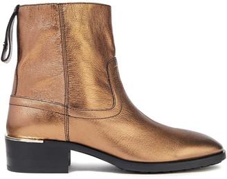 Jimmy Choo Halbert Metallic Pebbled-leather Ankle Boots