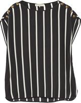 Emilio Pucci Striped silk crepe de chine top