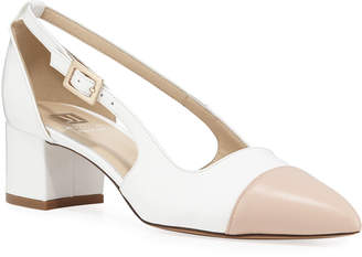 Bruno Magli Lisette Two-Tone Leather Slingback Pumps