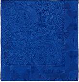 Etro Men's Paisley Silk Twill Pocket Square-BLUE