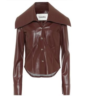 Nanushka Kiara faux leather shirt