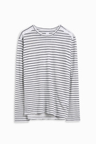 120% Lino Long Sleeve Stripe Top