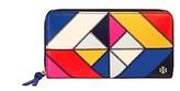 Tory Burch Diamond-Stitch Zip Continental Wallet