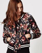 Nicole Miller Flynn Almond Blossom Bomber Jacket