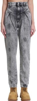 Chiara Ferragni Acid Wash Boyfr Jeans In Black Denim
