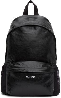 Balenciaga Black Arena Backpack