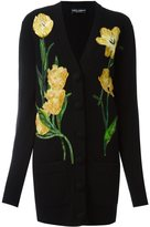 Dolce & Gabbana tulip appliqué cardigan