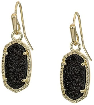 Kendra Scott Lee Earring (Gold/Black Drusy) Earring