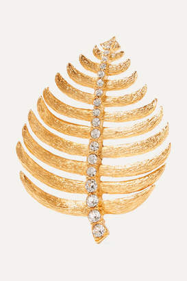Kenneth Jay Lane Gold-tone Crystal Brooch
