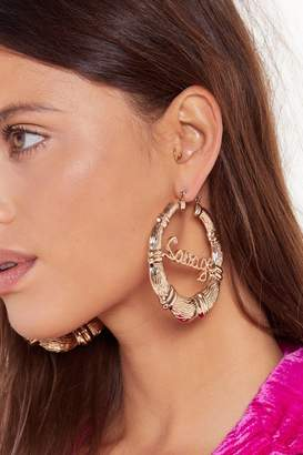 Nasty Gal Womens Call Me Savage Oversized Hoop Earrings - metallics - One Size