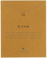 Dogeared 14K Gold Plated Sterling Silver Wish Wishbone Pendant Necklace