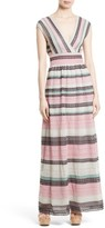 M Missoni Women's Lace Stripe Maxi Dress