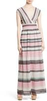 M Missoni Women's Lace Stripe Maxi Dress