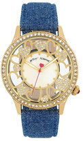Betsey Johnson Denim Hearts Watch