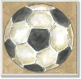 Stupell Industries The Kids Room by Stupell Soccer Ball on Background Square Wall Plaque