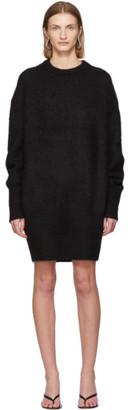 Totême Black Alpaca Biella Sweater Dress