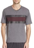Ami Satin Stripe T-Shirt