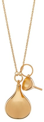 Lemaire Perfume Bottle Pendant Necklace - Womens - Gold