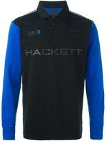Hackett contrast sleeve polo shirt