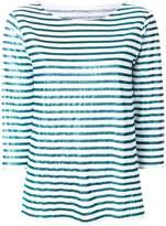 Majestic Filatures metallic stripe jumper