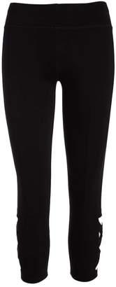 Crush Women's Leggings BLACK - Black Mesh-Accent Capri Leggings - Women
