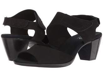 Munro American Fabiana (Black Nubuck) Women's Sandals