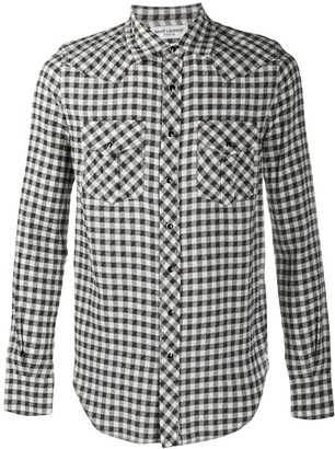 Saint Laurent Checked Slim-Fit Shirt