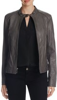 Cole Haan Wing Collar Goat Leather Jacket