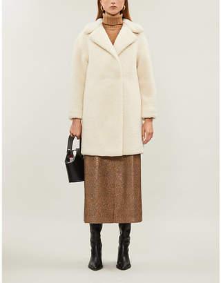 Harris Wharf London Longline shearling coat