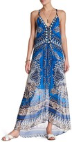 Hale Bob Halter Maxi Print Silk Dress