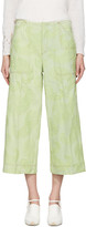 Acne Studios Green Texel Paisley Trousers