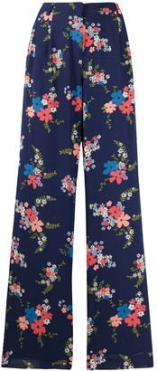 MICHAEL Michael Kors Floral-Print Pleated Trousers