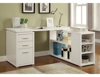 Brayden Studio Carbonell Reversible L-Shape Desk Color: Cappuccino