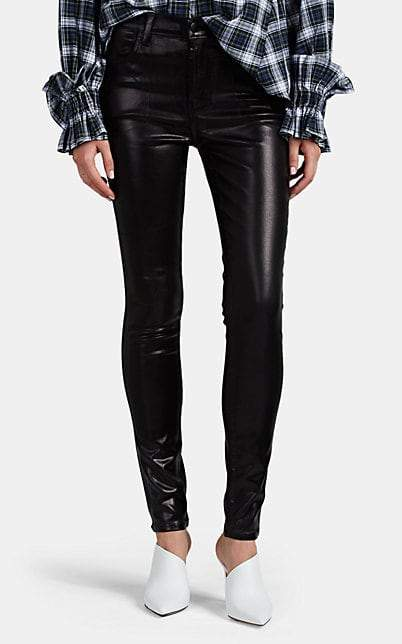 good texture top-rated fashion new high Women's Maria Faux-Leather High-Rise Skinny Jeans - Black
