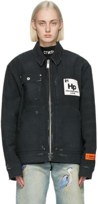Heron Preston Black Denim Worker Jacket