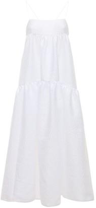 Cecilie Bahnsen Hillary Seersucker Long Dress