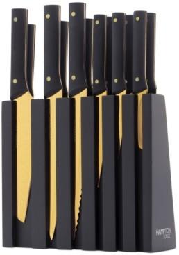 Hampton Forge Knight Gold 13-Pc. Titanium-Plated Cutlery Block Set