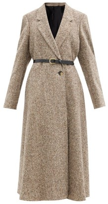 Petar Petrov Mya Wool-blend Tweed Longline Coat - Grey Multi
