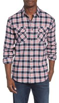 James Campbell Men's Regular Fit Plaid Sport Shirt