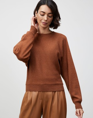 Lafayette 148 New York KindCashmere Chine Dolman Tie-Back Sweater