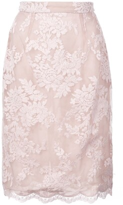 Marchesa Lace Detail Skirt