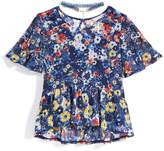 Nowadays x Bailee Madison Flower-Print Mesh Knit Top & Choker Set, Big Girls & Juniors