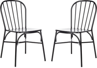 Safavieh Everleigh Side Chair/Stackable/Matte Black