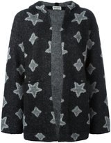 Saint Laurent star knitted cardi-coat - women - Nylon/Polyamide/Mohair/Wool - XS