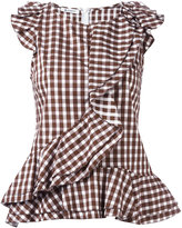 Dondup checked T-shirt - women - Cotton - 42