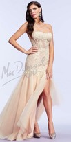 Mac Duggal Applique Corset Prom Dress