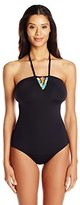 Coco Rave Women's Crochet Solids Gwen One-Piece Swimsuit