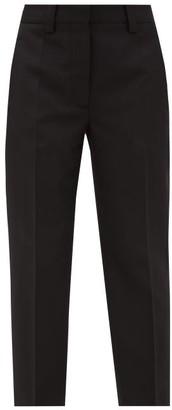 Acne Studios Tailored Cropped Grain-de-poudre Trousers - Black