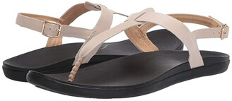 OluKai 'Ekekeu (Tapa/Black) Women's Sandals