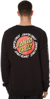Santa Cruz Ringed Dot Mens Crew Black